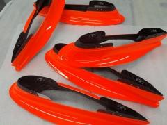 Formula E Carbon parts painted